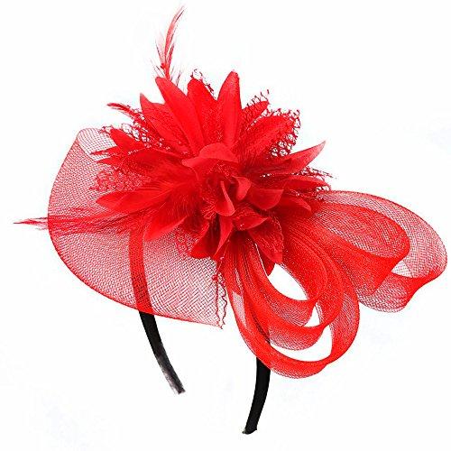 Vococal - Pelo Pasadores Tocado de Diadema con Encaje Floral y Cuero/Accesorios para Cabello para Fiesta de Boda Decorativos Mujer