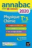 Annales Annabac 2020 Physique-chimie Tle S: sujets et corrigés du bac Terminale S...