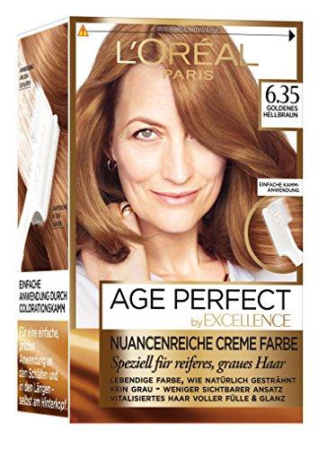 L\'Oréal Paris Excellence Age Perfect zartgoldnes hellbraun, 3er Pack (3 x 1 Stück)