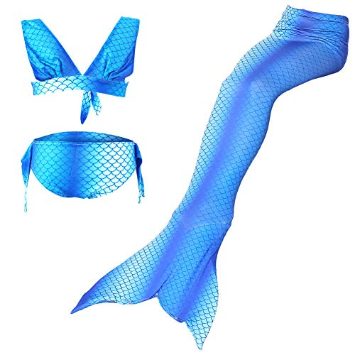 Lvbeis Mädchen Meerjungfrau Badeanzug Realistische Swimmable Tails Bikini KostÜM Cosplay Mermaid KostÜM Monoflosse ()