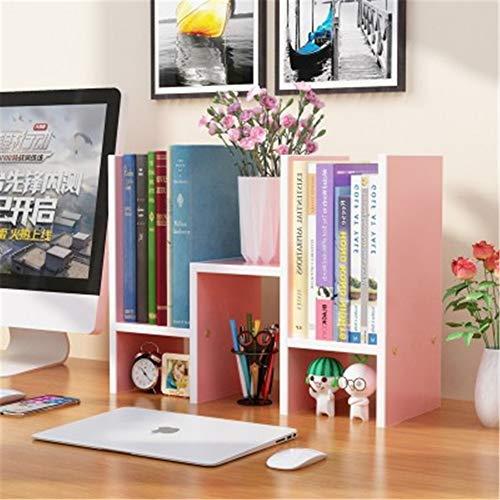 WYN Schreibtisch-Regal Book Shelf Desktop-Bücherregal Schreibtischablage Einfach Platzsparend Büro zu Hause,pink -