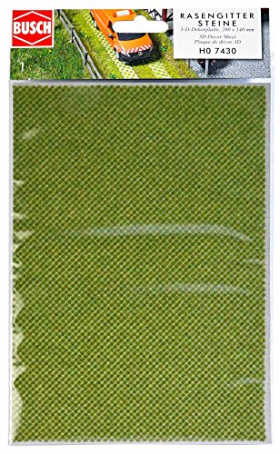Busch 7430 - 3-D-Dekorplatte Rasengittersteine