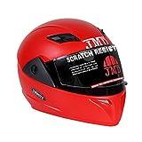 #9: Jmd Helmets Trusty Full Face Helmet (L) Red Color