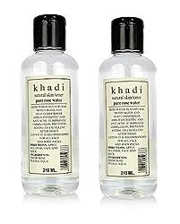Khadi Natural Rose Water, 210ml (Pack of 2)