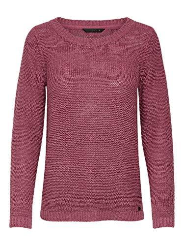 ONLY Damen Pullover onlGEENA XO L/S KNT NOOS, Rosa Rose Wine, 34 (Herstellergröße: XS)