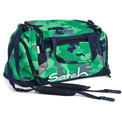 Satch Grinder borsa sportiva SAT DUF-001-216, 50 cm, 25 L, Verde Green Camou (Verde / Nero)