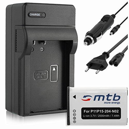 Batteria + Caricabatteria (Auto/Corrente) per Garmin VIRB, VIRB Elite / Monterra / Montana 600, 650...