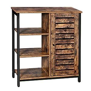 VASAGLE Sideboard, Küchenschrank mit 3 offenen Ablagen, Badezimmerschrank, Wohnzimmer, Flur, Küche, Homeoffice…