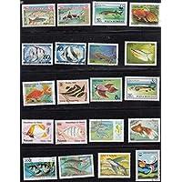 JCNL 50 unids/Lote, Peces Marinos, Animales del océano, Todos Diferentes de Muchos países, sin Repetir Sellos Postales sin Usar para recolectar S
