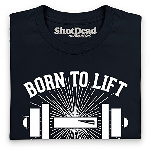 Born To Lift Forced To Work Langarmshirt Funny Novelty Gift, Herren Schwarz