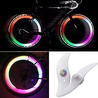 TRIXES Paire d'Ampoules pour Rayons de Roue de Vélo avec des LED aux Couleurs Changeantes