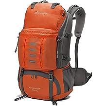 Mountaintop 45 + 5L Mochila impermeable / Morral que acampa /Mochila viaje/ Mochila al azar con la cubierta impermeable al aire libre Escalada Mochila para la escuela