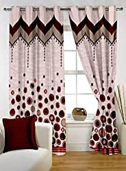 Story at Home 350 GSM Polyester 1 Piece Window Curtain, Brown, 118 cm x 152 cm, WBR4018