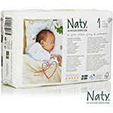 Nature Babycare Newborn Size 1 (4-11 lbs/2-5 kg) Nappies - 4 x Packs of 26 (104 Nappies)