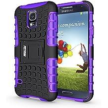 Funda Galaxy S5 , Funda S5 Neo, Fetrim Proteccion Cáscara Cases delgada de golpes Doble Capa de Tough Armor Anti-Shock de soporte de Protectora para Samsung Galaxy S5/S5 Neo (Púrpura)