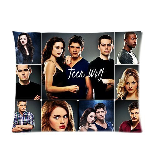Teen Wolf Dylan O'Brien &Tyler Posey &Crystal Reed Pattern Hot Sale Shop Custom Adorable Cotton & Polyester Soft Rectangular Zippered Pillow Case 20x26 Inches Two sides Reed & Amp