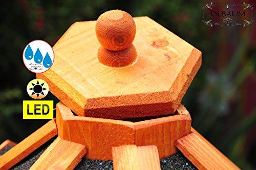 Vogelhaus-Futterhaus Massivholz,Massiv-Vogelhäuser, XXL ca. 70-75 cm, wetterfest Massivdach, mit Ständer Standfuß und Silo,Futtersilo für Winterfütterung mit Beleuchtung,Licht-LED -Holz Nistkästen & Vogelhäuser- aus Holz Holz mit Dach schwarz anthrazit BGXL75atMS - 3