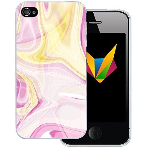Mobilefox Eigenes Foto transparente Silikon TPU Schutzhülle 0,7mm dünne Handy Soft Case für Apple iPhone 7 individuelles Motiv - Clear Cover Gel Hülle Liquid Rosa Gelb