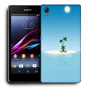 Snoogg Small Island Printed Protective Phone Back Case Cover For Sony Xperia Z5
