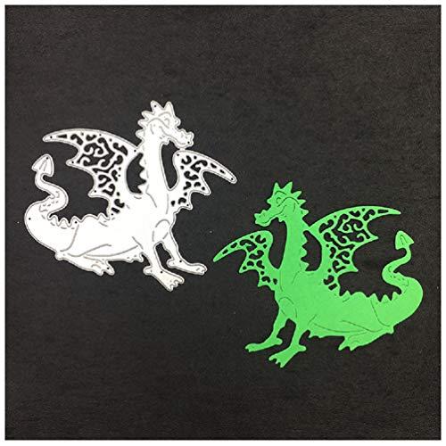 Katc Stanzschablone Scrapbooking, Embossing Machine Schablonen Schneiden Stanzformen DIY Sammelalbum Dekor Papier Karten,Metall Lesezeichen als Geschenk Fuer Freunde(Magic Black Dragon)