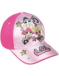 13bfef99 L.O.L. Surprise ! Girls Premium Baseball Cap for Summer | Kids Sun Hats  with LOL Dolls in Pink Blue Sparkly Glitter | Official…