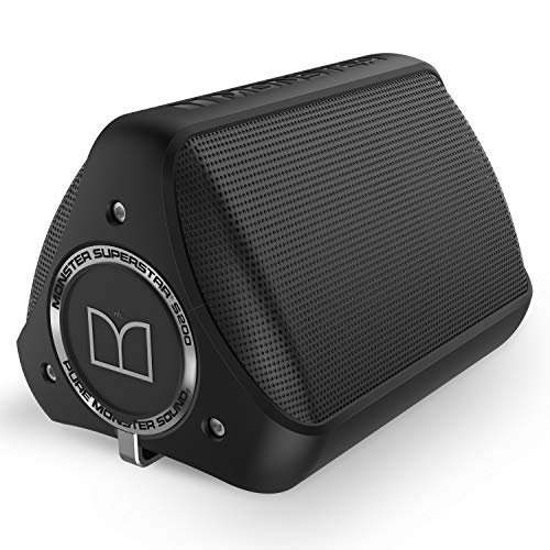 Monster S200-Enceinte portable avec Bluetooth, Noir