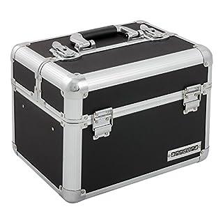 Kosmetikkoffer XL Aluminium-Rahmenkoffer Multikoffer Beauty Case für Nagelstudio - Nail Systems in Schwarz - 800011