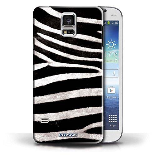 Coque en plastique pour Samsung Galaxy S5/SV Collection Motif Fourrure Animale - Zèbre Zèbre
