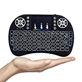 #2: Gopani Mini Wireless Keyboard with Touchpad/Backlit Light & Wireless Keyboard and Mouse,Portable Keyboard for Tablets,Wireless Keyboard Mouse Combo for Android/iOS Devices (Black)