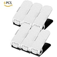 Organizadores Zapatos Ajustable Plástico Estante Soporte de Calzado Economizar Espacio (Blanco* 6 pieces)
