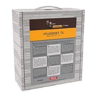 IRSA Pflege-Set 3 (450 ml Pflegeöl + 5 Öltücher + Pflegeanweisung) für geölte Oberflächen