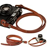 Ganze Leder Kamera Hals Gurt Schultergurt für Film SLR DSLR RF Leica Digital