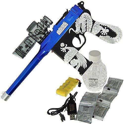 Kinder Batteriebetrieben USB MP5 gel weich Wasser Kristall Spielzeug Waffe 20m Reihe 2000 Munition - Weihnachten Geschenk