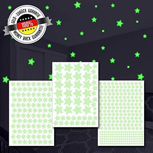 Magicstars 452 Stelle Adesive Fluorescenti Luminose | Stickers Autoadesivi Luminescenti | 4 Formati | Crea Il Tuo Cielo Stellato
