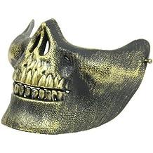 Kasstino calavera esqueleto Airsoft caza media cara Protect Gear máscara Cosplay Halloween