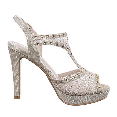 Ital-Design , Sandales femme Or - Gold - gold