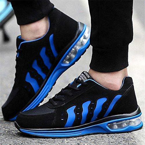Sneakers Frauen Schuhe Größe 36-44 Laufschuhe für Frauen Luftkissen Sport Schuhe Frau Marke Jogging Trainer Atmungsaktiv 228, schwarz blau, - Jungen-größe 7 Basketball-schuhe Für