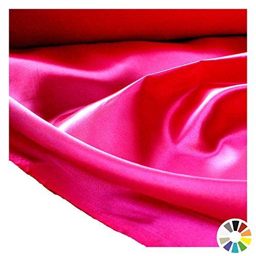 Glanz SATIN Modestoff / Deko-Stoff / Kostümstoff als Meterware am Stück (Pink)
