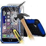 Aventus ( Blue ) Apple iPhone 6S Plus Case Protective Elegant Tough Survivor Fest Rugged Shock Proof Heavy Duty Case W / Back-Standplatz, ausgeglichenes Glas-LCD-Display Schutzfolie, Poliertuch und Mini-versenkbaren Stylus Pen