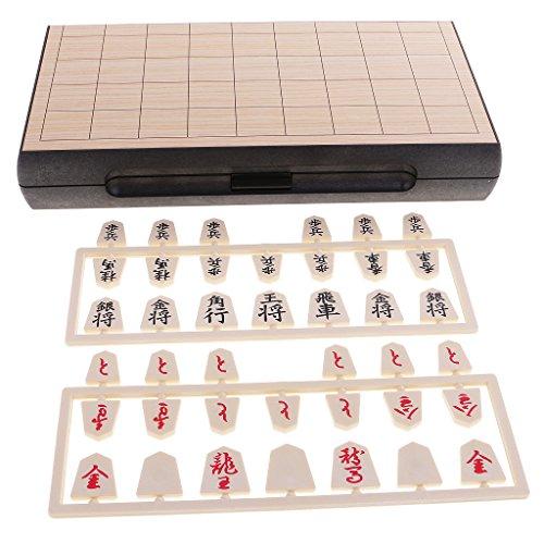 MagiDeal Ajedrez Japonés Magnético Shogi Magnético Tablero de Juego Portable Juguetes Educativos para Niños