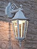 Licht-Erlebnisse Große 100 Watt Wandaußenleuchte hängend weiß EL1332