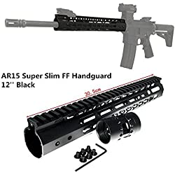 "FIRECLUB 7"" 9"" 10"" 12"" 13.5"" 15"" AR15 Free Float Keymod Handguard Picatinny Rail for Hunting Tactical Rifle Scope Mount (12inch)"