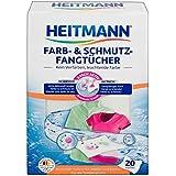 Heitmann fogli catturacolore & sporco: doppia protezione per il tuo bucato contro capi sbiaditi e ingrigiti, 20 pezzi.