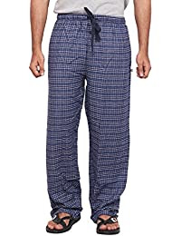 Twist Men's White And Grey Checked 100% Cotton Pyjama Sleepwear Night Wear With Contrast & Free Shipping