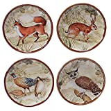 "Certified International 25711SET/4 Rustic Nature Canape Plates (Set of 4), 6"", Multicolor"