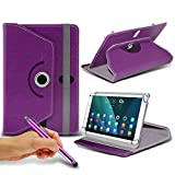 (Purple) Lenovo A10-70 10,1 [10,1 Zoll] Case [Cover StŠnder] fŸr Lenovo A10-70 10,1 [10,1 Zoll] Tablet PC Kasten-Abdeckung [Standplatz -hŸlle] strapazierfŠhigem Synthetik-PU-Leder 60 Roatating Abdeckung Tasche Fall hŸlle [Standplatz -hŸlle] mit 4 Federn von i- Tronixs
