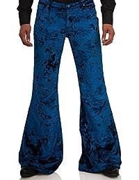 Samtschlaghose Comycom Star Samt Blau