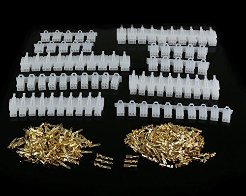 380 STÜCKE 2,8mm Pitch 2 3 4 6 Pin Männlich Weiblich Stecker Gehäuse Pin Header Crimp-draht-anschlussstecker Sortiment Kit -