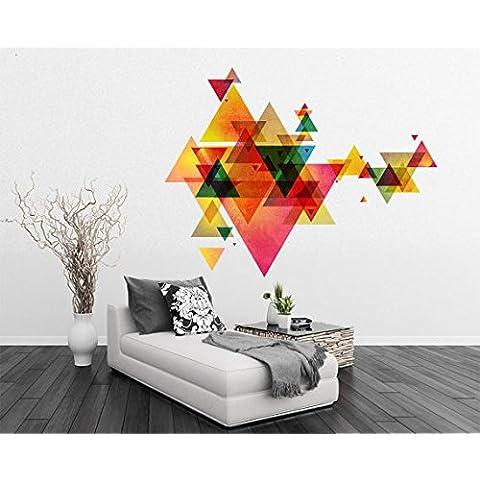 Vinilo Geométrico Efecto Triángulos Moderno Eames Arte de la Pared - 145 x 112 cm