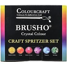 brusho Kristall Farben Craft Schorle Set